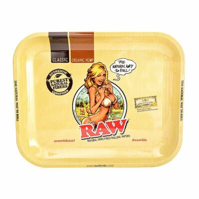 RAW Rolling Tray – RAW Girl – Large