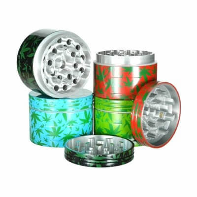 Generic Label Leaf Metal Grinder W/ Catcher 52mm – Assorted Colors