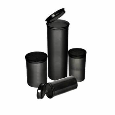 Philips Rx Child Resistant Pop Top Bottle 19 Dram – Black