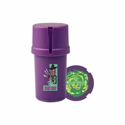 The Medtainer Storage w/ Grinder Scary Terry / Purple - 20 Dram