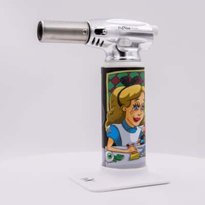 "Custom Torches - Dunkees ""Girls Night Out"" Butane Torch - White"