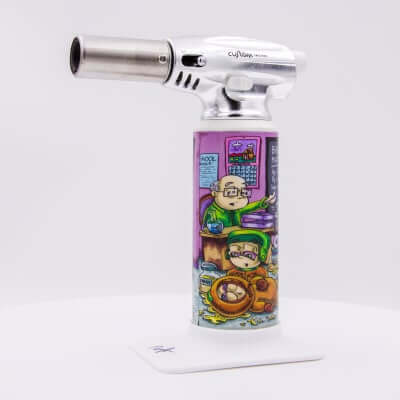 "Custom Torches - Dunkees ""Life Lessons"" Butane Torch - White"