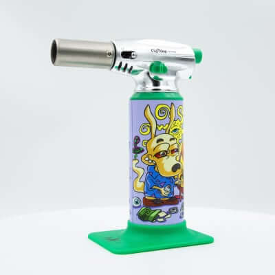 "Custom Torches - Dunkees ""Old School Way"" Butane Torch - Green"