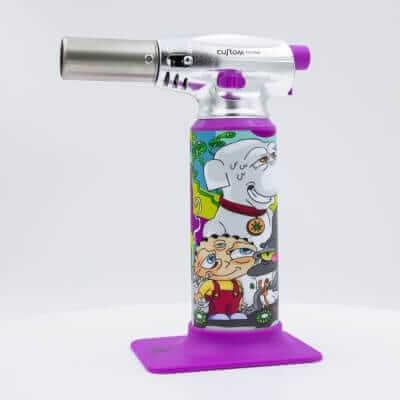 "Custom Torches - Dunkees ""Snowball"" Butane Torch - Purple"