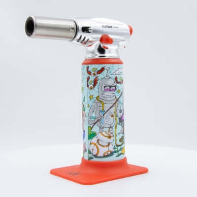 "Custom Torches - Dunkees ""Grind My Gears"" Butane Torch - Red"